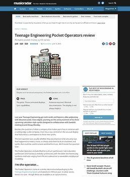 Teenage Engineering Pocket Operators