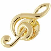 Rockys Pin Treble Clef Gold
