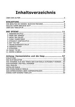 Inhaltsverzeichnis und Beispielseiten