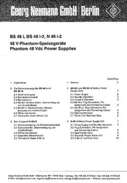 Manual for PSU