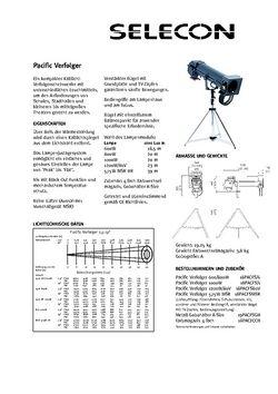 Selecon Pacific Verfolger Datenblatt