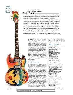 Gitarre & Bass Vintage Icon VS6MRF The Fool, E-Gitarre