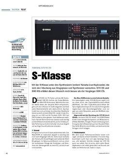 Tastenwelt Test: Yamaha S70/90 XS - S-Klasse
