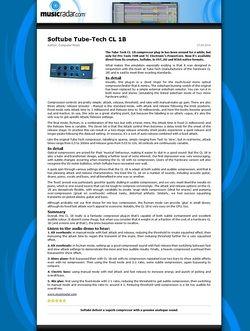 MusicRadar.com Softube Tube-Tech CL 1B