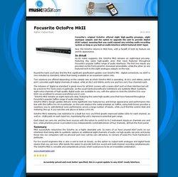 MusicRadar.com Focusrite OctoPre MkII