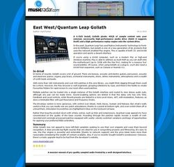 MusicRadar.com East West/Quantum Leap Goliath