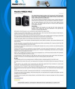 MusicRadar.com Mackie HR824 Mk2