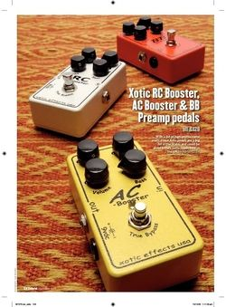 Guitarist Xotic RC Booster