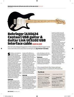 Guitarist Behringer Guitar Link UCG102