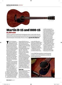Guitarist Martin 000 15M