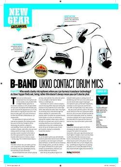 Rhythm BBAND UKKO CONTACT DRUM MICS
