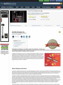Audiofanzine.com Arobas Music Guitar Pro 6
