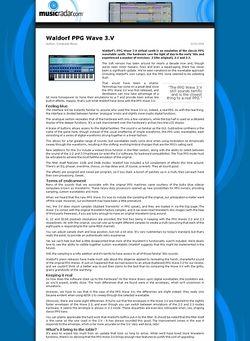 MusicRadar.com Waldorf PPG Wave 3.V