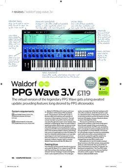 Computer Music Waldorf PPG Wave 3.V