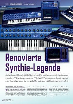 Professional Audio Renovierte Synthie-Legende Waldorf PPG Wave 3.V