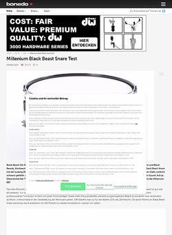 Bonedo.de Millenium Black Beast Snare