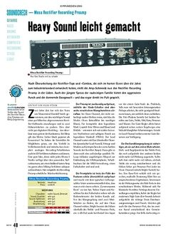 Soundcheck Test: Mesa Rectifier Recording Preamp