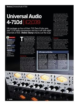Future Music Universal Audio 4-710d