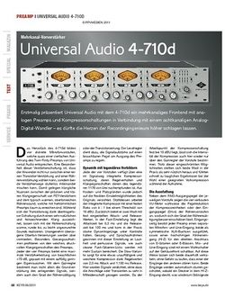 KEYS Universal Audio 4-710d