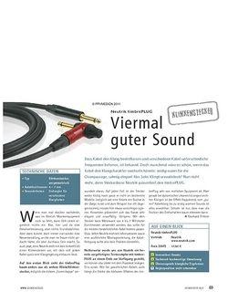 Soundcheck Test Klinkenstecker: Neutrik timbrePLUG