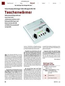 KEYS Test: Behringer Tube Ultragain Mic 100