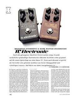 Gitarre & Bass TC Electronic MojoMojo Overdrive & Dark Matter Distortion, Verzerrer