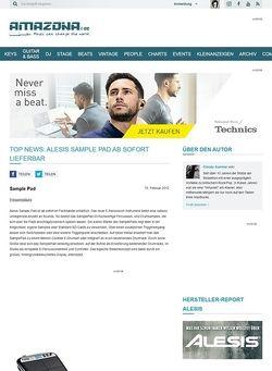 Amazona.de Top News: ALESIS Sample Pad ab sofort lieferbar