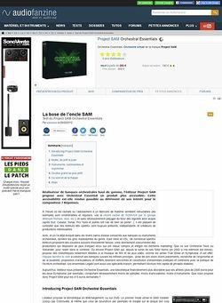 Audiofanzine.com Project SAM Orchestral Essentials