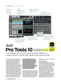 Computer Music Avid P ro Tools 10