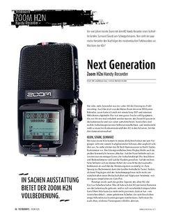 Sound & Recording Zoom H2n: Handy-Recorder mit Extras