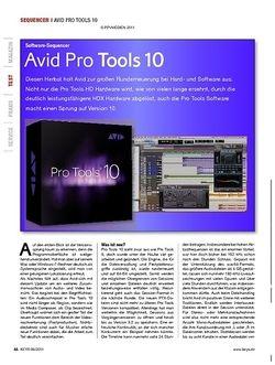 KEYS Avid Pro Tools 10