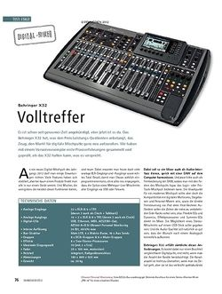 Soundcheck Test Digital-Mixer: Behringer X32