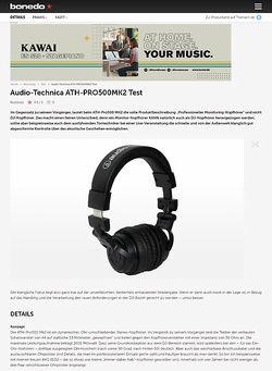Bonedo.de Audio-Technica ATH-PRO500MK2