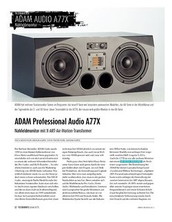 Sound & Recording ADAM Professional Audio A77X