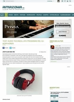 Amazona.de Test: Audio Technica, ATH Pro500MKII RD, DJ-Kopfhörer