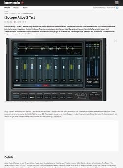 Bonedo.de iZotope Alloy 2 Test