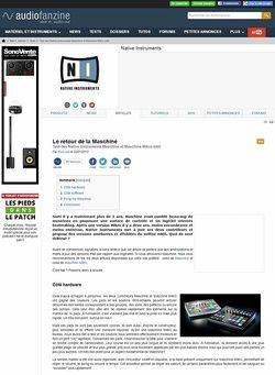 Audiofanzine.com Native Instruments Maschine MKII