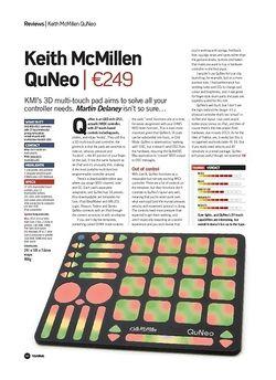 Future Music Keith McMillen QuNeo
