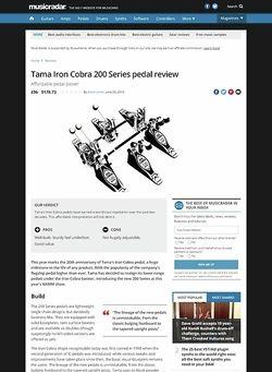 MusicRadar.com Tama Iron Cobra 200 Series pedal