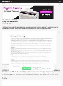 Bonedo.de Korg Volca Bass