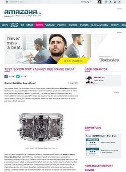 Amazona.de Test: Sonor SSD12 Mikkey Dee Snare Drum