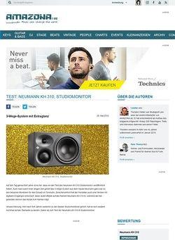 Amazona.de Test: Neumann KH310, Studiomonitor