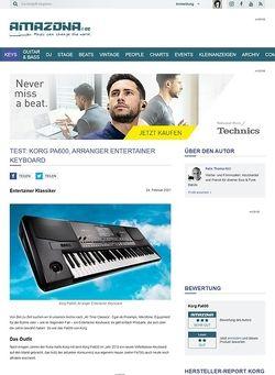Amazona.de Test: Korg PA600, Arranger Keyboard