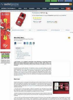 Audiofanzine.com TC Electronic HOF Mini