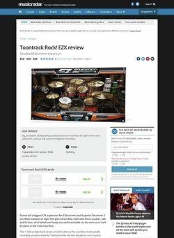 MusicRadar.com Toontrack Rock! EZX