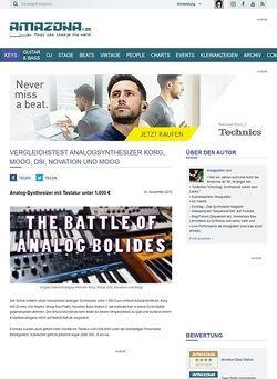Amazona.de Vergleichstest: Arturia MiniBrute, Korg MS-20 mini, DSI Mopho, Moog Sub Phatty, Novation Bass Station 2