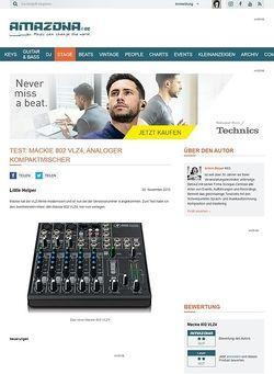 Amazona.de Test: Mackie 802 VLZ4, analoger Kompaktmischer