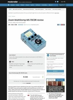 MusicRadar.com Zoom Multistomp MS-70CDR