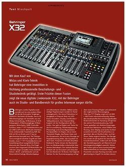 KEYS Behringer X-32