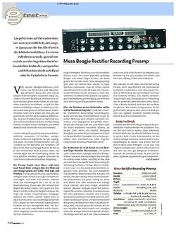 Guitar Test: Mesa Boogie Rectifier Recording Preamp
